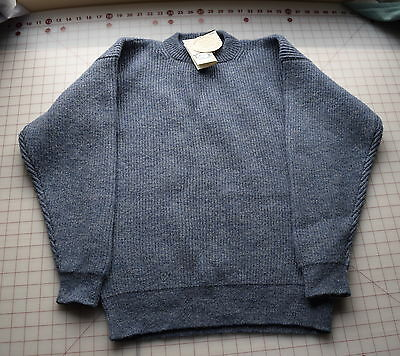 Jamieson's Shetland wool men's sweater, Nice heather blue, unused