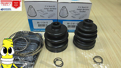 Rear Inner & Outer CV Axle Boot Kit for Subaru Forester 1998 1999 2000 2001 2002