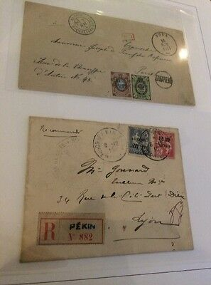 VENTE PRINTEMPS 2#LOT229: collection lettres covers anciennes Russia Chine