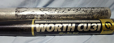 Easton Xtreme 34 In 29 Oz & Worth Powercell 27 Oz Softball Bats