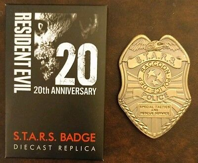 Resident Evil 20th Anniversary Replica STARS Badge-raccoon city-diecast-police
