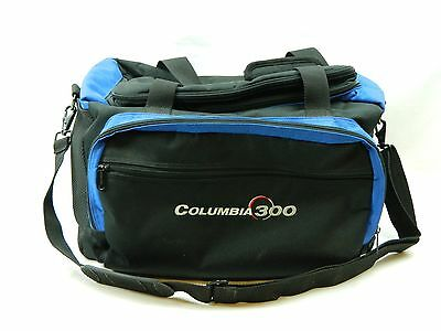 2 Ball Columbia 300 Bowling Bag Carry Case Tote Double Dual Blue Black Storage