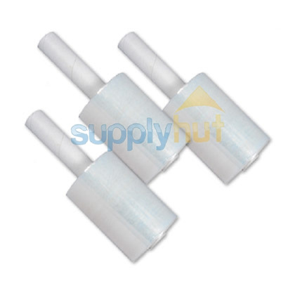 """5"""" in x 1000FT 80 Gauge Extended Core Stretch Shrink Film Hand Wrap 2 Rolls Roll"""