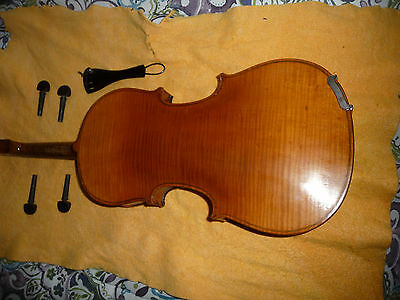 Antique High Flame One Piece Back Full Size Violin