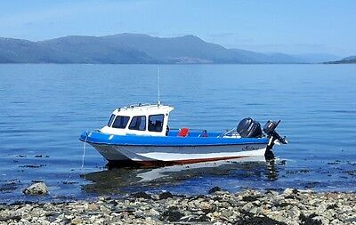 17ft fast fisher dory orkney boat with 60hp yamaha outboard