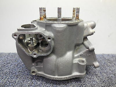 1991 Honda CR250 Cylinder core with a cracked skirt needs repair 91 CR 250