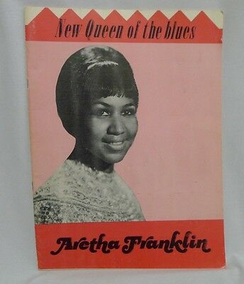 Aretha Franklin 1960s Program Brouchure Booklet New Queen of The Blues HTF