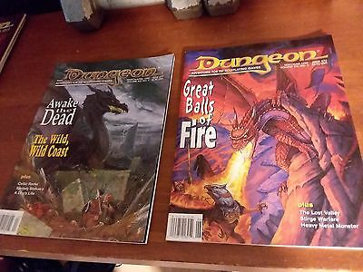 Dungeon Magazine (Lot x 22 +1 bonus Polyhedron Mag; All in solid shape)