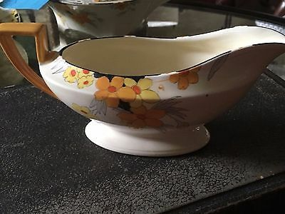 Crown Ducal Sunburst gravy boat
