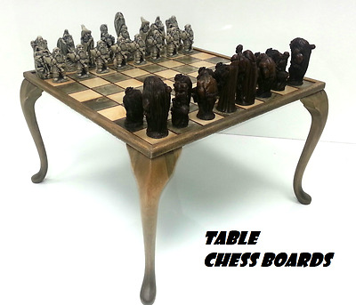 Hand Made Wooden Chess Boards and Table Chess Boards  £42.50  to  £75.00.