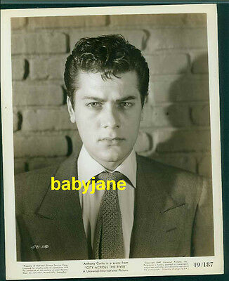 Tony Curtis Vintage 8X10 Photo 1949 City Across The River Young Portrait