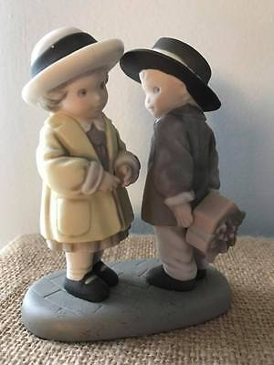"""Enesco Pretty As A Picture Figurine """"giving You A Gift From My Heart""""1997"""