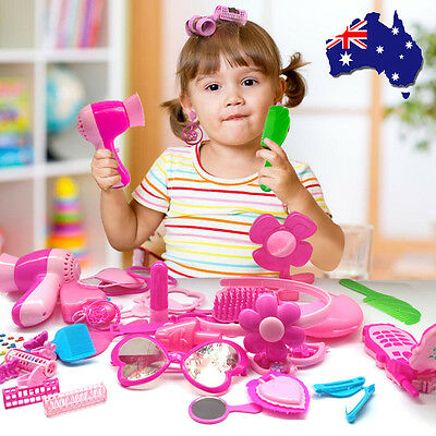 17-19Pc Beauty Make Up Dress-Up Cosmetic Dressing Set Kids Girl Pretend Play Toy