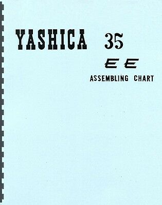 Yashica 35EE  35 EE Assembling Chart / Exploded Views for Service & Repair