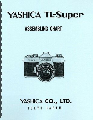 Yashica TL-Super Assembling Chart / Exploded Views for Service & Repair