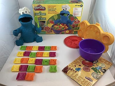 Cookie Monster's Letter Lunch Good Used Sesame Street HTF Missing A Few Pieces