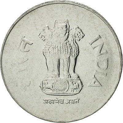 [#464295] INDIA-REPUBLIC, Rupee, 2001, MS(65-70), Stainless Steel, KM:92.2