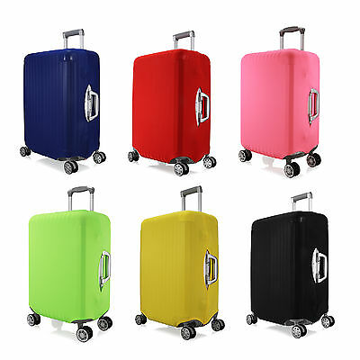 Plain Color Elastic Spandex Protector Cover For Travel Luggage Suitcase S M L
