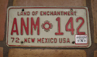 New Mexico 1975 License Plate Anm-142