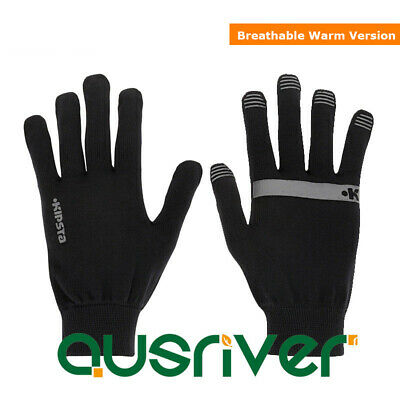 Seamless Knitted Winter Warm Gloves Black Knit Gloves Women Running Gloves