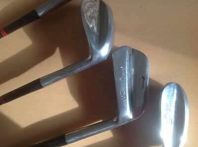 vintage thomas stewart selected pipe mark stamped irons 6,7,8,9