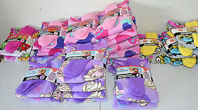 Girls Nightgown with Socks Pajama Microfleece Lot of 26 Shopkins Trolls Frozen