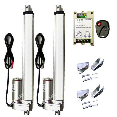 """2x10"""" 330lbs 12V Linear Actuator W/ Wireless Control Kit for Door Open Auto Car"""