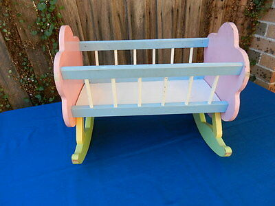 DOLLS' Vintage Wooden ROCKING CRADLE