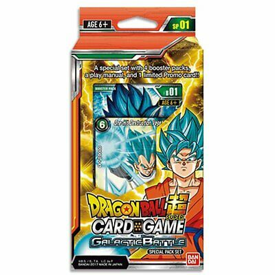 Dragon Ball Super TCG Special Pack Galactic Battle w/ 4 Boosters