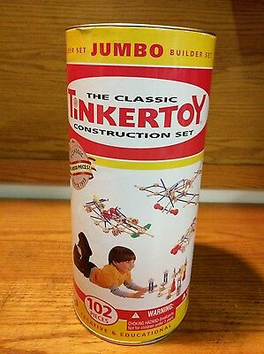 Classic Tinker Toy Collection 95th Ann. 102 + Pieces  Jumbo Builder
