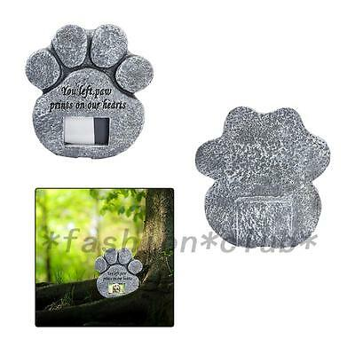 Paw Print Pet Cat Dog Picture Grave Memorial Stone Marker Plaque Headstone New
