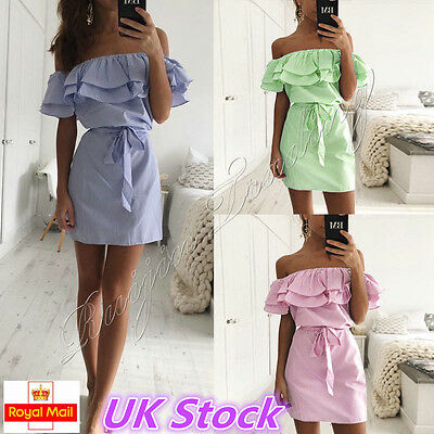Womens Holiday Mini Playsuit Ladies Jumpsuit Summer Beach Dress Size 6 - 14 UK