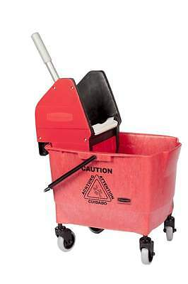 Rubbermaid Combo Bravo 25L Cleaning Bucket and Kentucky Mop Wringer - Red