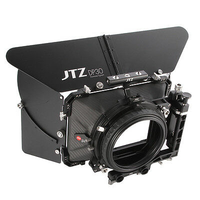 "JTZ DP30 Carbon Fiber 4x4"" Matte Box 15mm/19mm For Sony A7R ARRI RED CANON 5D3"