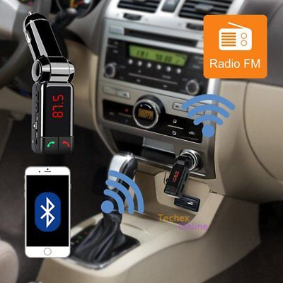 FM Transmitter Player Bluetooth Car Kit MP3 Car Charger USB for iPhone Samsung