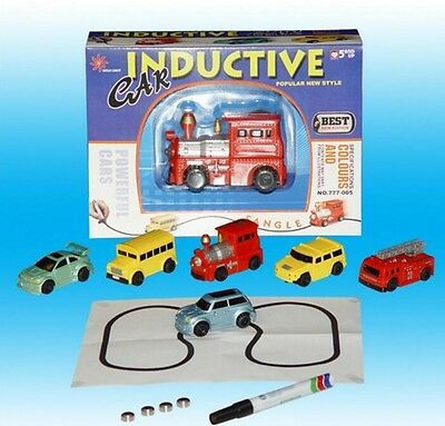 Top Follow Any Drawn Line Magic Pen Inductive Toy Car Truck Bus Tank Model SE