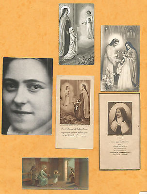 Lot 6  Images Pieuses Holy Card  Sainte Therese Tj1