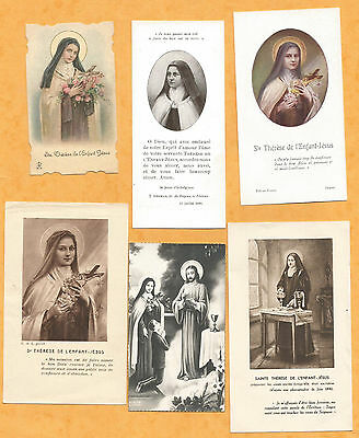 Lot 6  Images Pieuses Holy Card  Sainte Therese Tj2