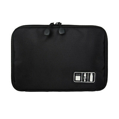 Electronic Accessories Cable USB Drive SD Card Organizer Bag Insert Case Black