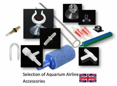 Aquarium Fish Tank Air Line Tube Accessories Suction Cups Valves Connectors Kit