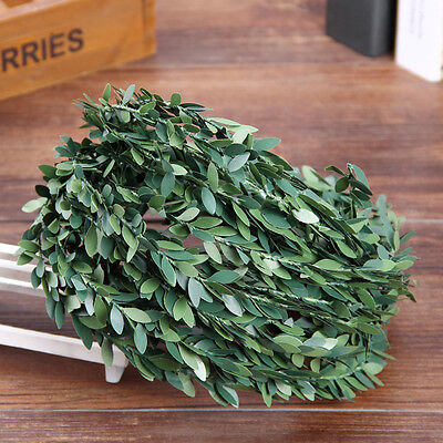7.5m Artificial Green Flower Nylon iron wire Leaves Rattan DIY wreath Accessory
