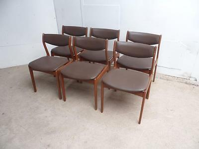 A Superb Set of 6 Retro 1970s Teak Farso Stolefabrik Danish Dining Chairs