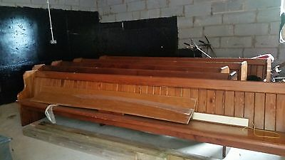 original pitched pine 15 ft church pew