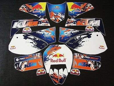 "KTM LC4 2001-2007 ""New"" Stickers Graphics Full Kit"