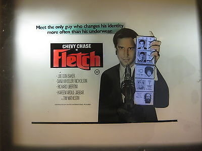 FLETCH 1985 Orig Australian cinema movie projector glass slide Chevy Chase