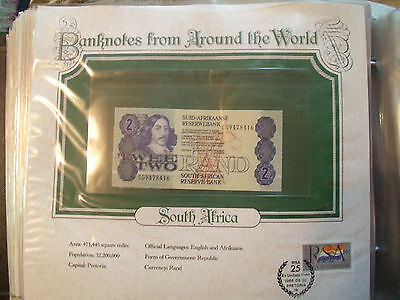 World Banknotes South Africa 1983 2 Rand P 118d UNC Prefix CG