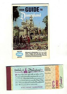 1967 Your Guide to Disneyland INA Pirates of the Caribbean + Ticket Book