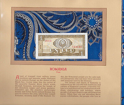 Most Treasured Banknotes Romania 1 Leu 1966 P 91a UNC Serie F.0037