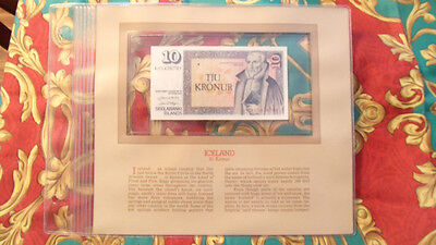 Most Treasured Banknotes Iceland 1961 (1981) 10 Kronur P48a UNC Prefix A