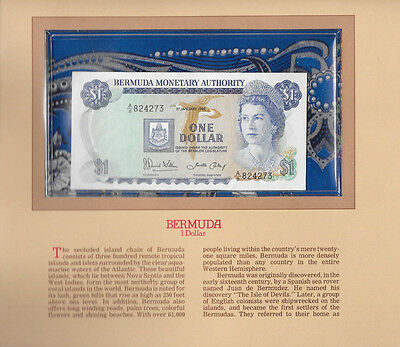 Most Treasured Banknotes Bermuda 1986 1 Dollar P28c GEM UNC Prefix A/8